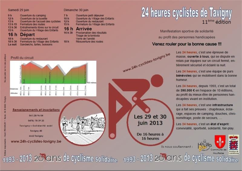 24 heures cyclistes de Tavigny - 2013